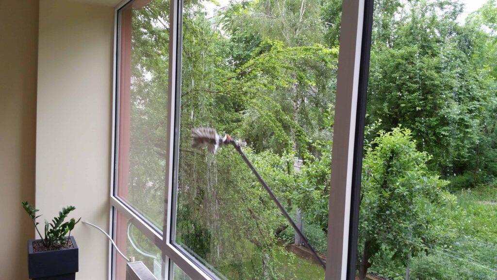 почистване на прозорец
