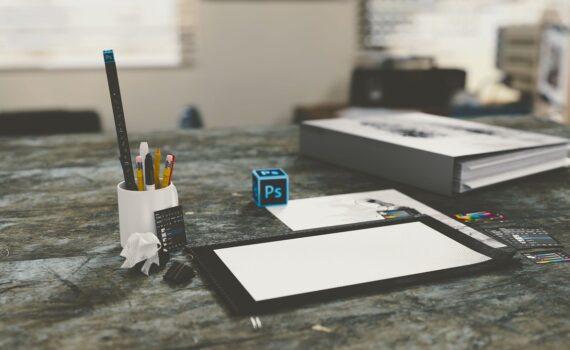 office, desk, computer